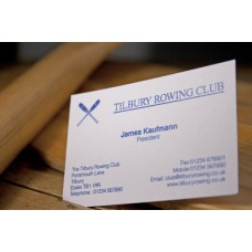Raised Printed Business Card Extra Fine Finish Stock