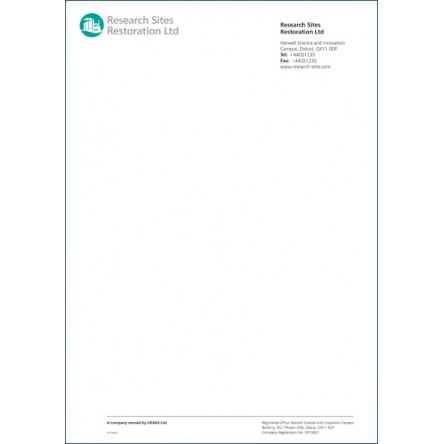Raised Printed Stationary Letterhead 25% Cotton 24 lbs