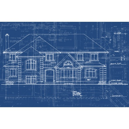 Architectural Drawing Printed on 24 lb Regular Paper B/W 24 x 36
