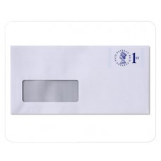 Envelope White Wove Window Raise Printed No. 6